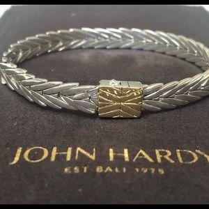 John Hardy Modern Chain Bracelet S/S, 18K